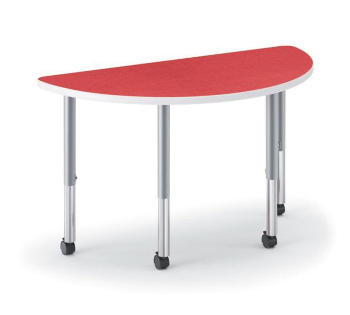 HON Build Half Round Table Patterned Pommegranate Color HESH-3060E-4L.N.LBG1.K.T1