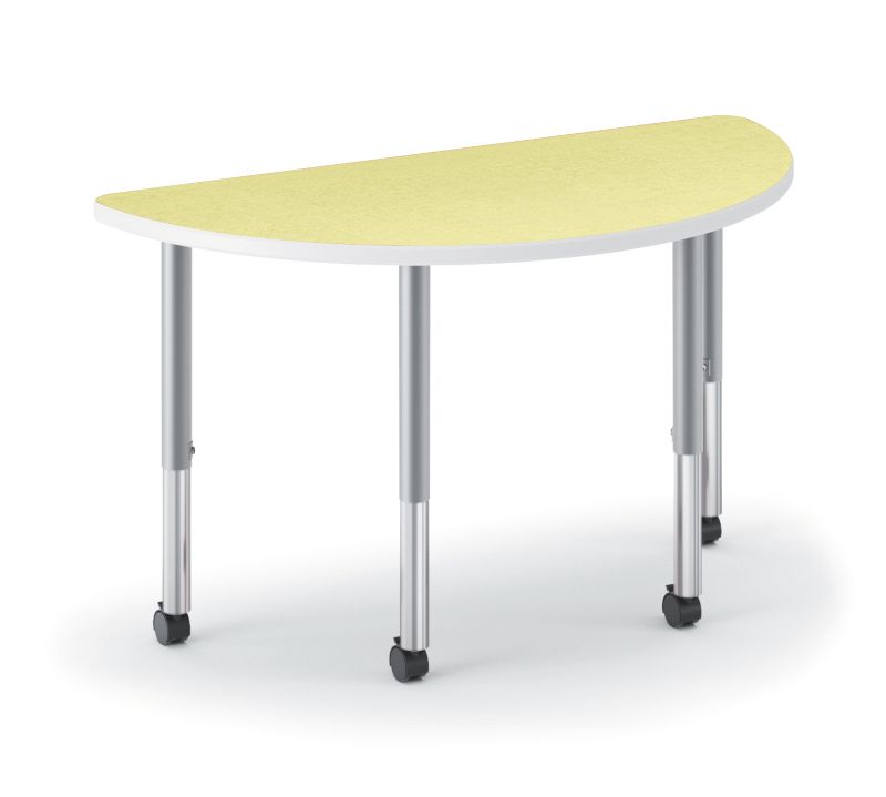 HON Build Half Round Table Patterned Kiwi Color HESH-3060E-4L.N.LKW1.K.T1