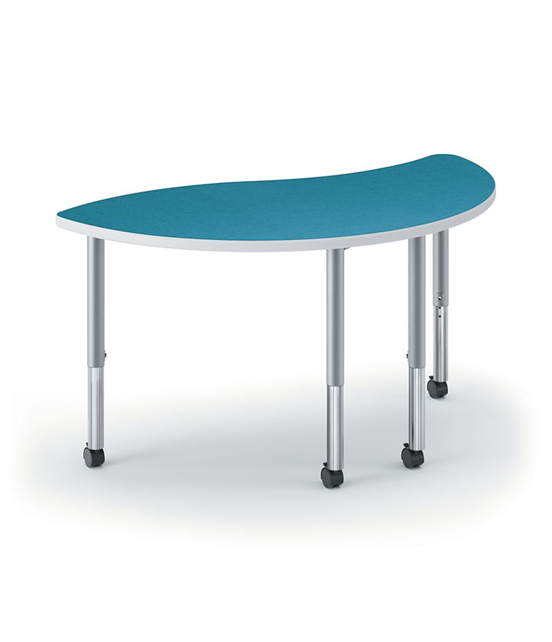 HON Build Wisp-Shaped Table Blue Agave Front Side View 4L.N.LBA1.K.T1