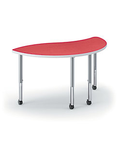 HON Build Wisp-Shaped Table Solid Platinum Front Side View 4L.N.LBG1.K.T