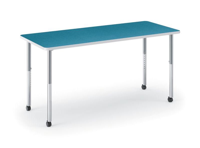 HON Build Rectangle Table Blue Agave HETR-3060E-4L.N.LBA1.K.T1