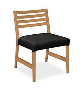Wood Slat Back Guest Chair