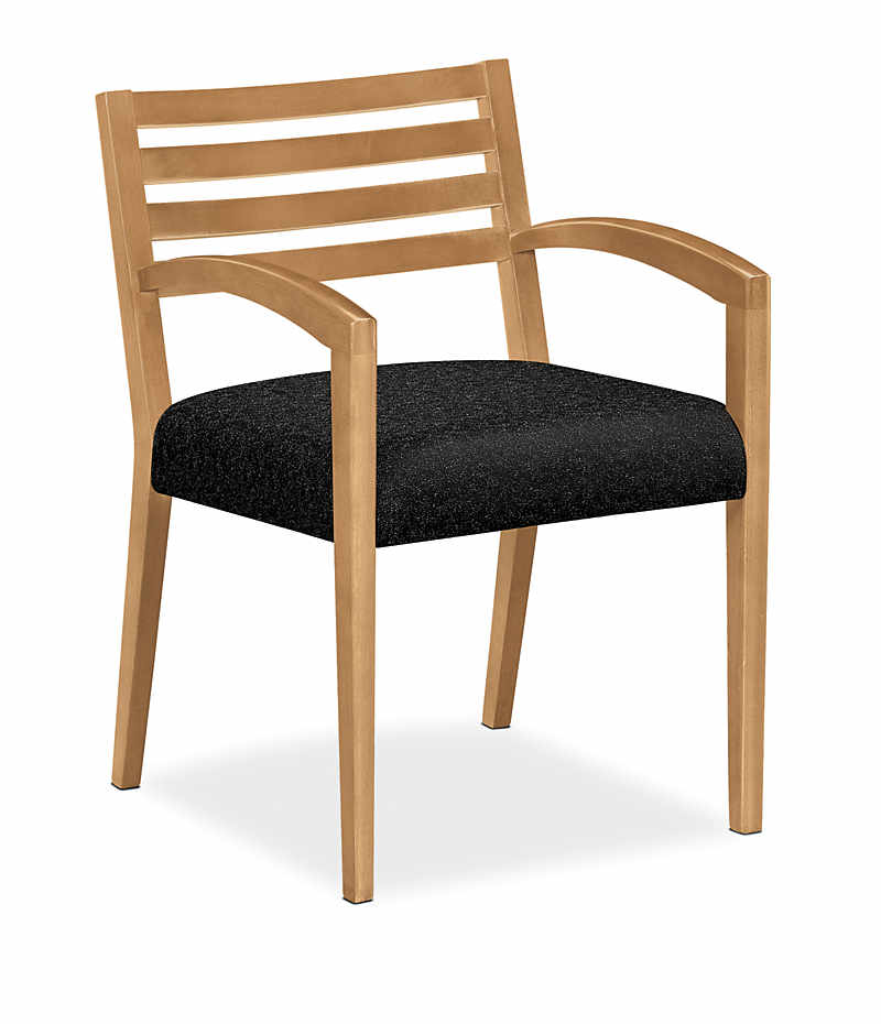 Cambia wood slat back guest chair h hon office furniture
