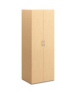 HON Centerpiece Wardrobe Storage Cabinet Natural Maple Color Front Side View HVPCLD6H30-DW.D.D