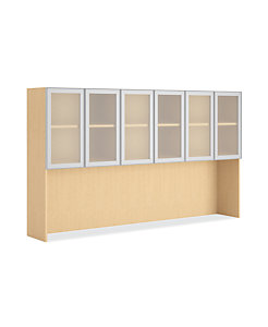 HON Centerpiece Stack-On Storage with 6 Frosted Doors HVPSMC2H90-WG.D