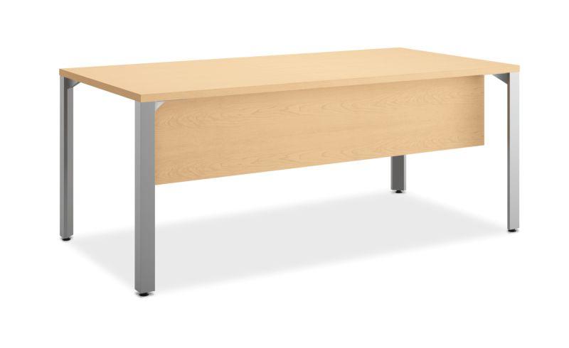 HON Centerpiece Table Desk Natural Maple Color Front Side View HVPTDR3672-WW.G.PR6.D