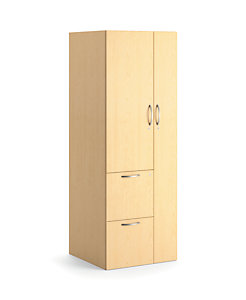 HON Centerpiece Storage Tower Natural Maple Color Front Side View HVPUTC6H24R-WW.D.D