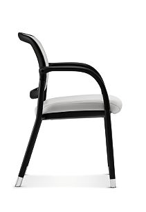 HON Ceres Multi Purpose Chair Mesh Back White Fixed Arms Side View HCG6.F.E.IF.RS30.BLCK