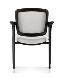 HON Ceres Multi Purpose Chair Mesh Back White Fixed Arms Back View HCG6.F.E.IF.RS30.BLCK