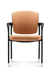 HON Ceres Multi Purpose Chair Mesh Back Centurion Caramel Fixed Arms Front View HCG6.F.E.PB.CU26.BLCK