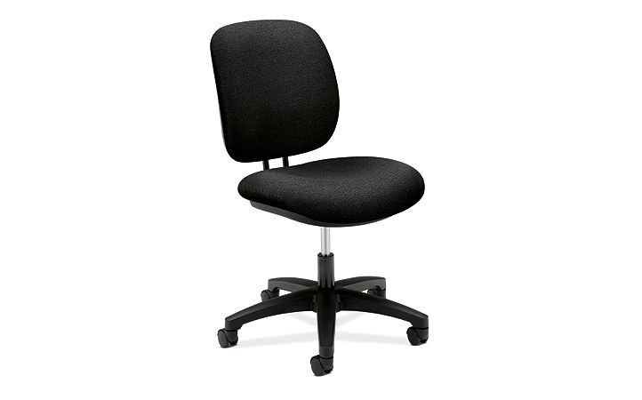 HON ComforTask Task Chair Confetti Black Armless Front Side View H5901.H.AB10.T