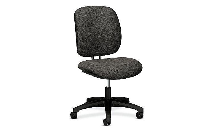 HON ComforTask Task Chair Confetti Gray Armless Front Side View H5901.H.AB12.T