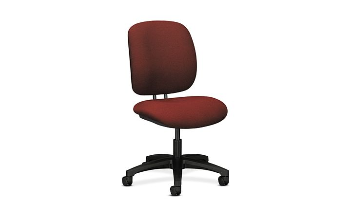 HON ComforTask Task Chair Attire Crimson Armless Front Side View H5901.H.AB62.T