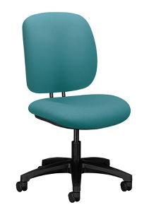 HON ComforTask Task Chair Centurion Glacier Armless Front Side View H5901.H.CU96.T