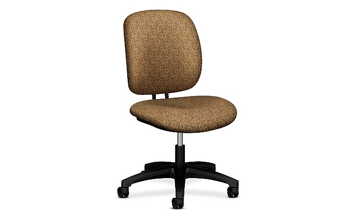 HON ComforTask Task Chair Gio Brown Armless Front Side View H5901.H.GO26.T
