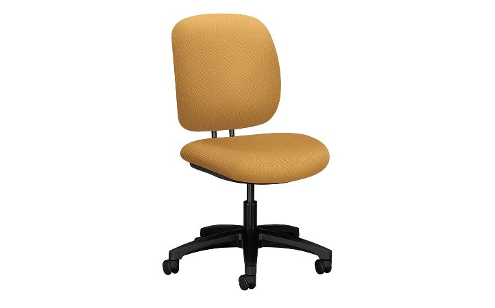 HON ComforTask Task Chair Centurion Mustard Armless Front Side View H5901.H.NR26.T