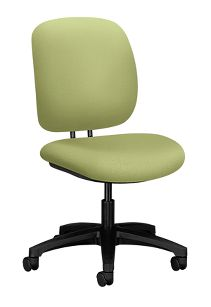 HON ComforTask Task Chair Inertia Lime Armless Front Side View H5901.H.NR82.T