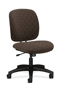 HON ComforTask Task Chair Gio Mocha Armless Front Side View H5902.H.GO47.T