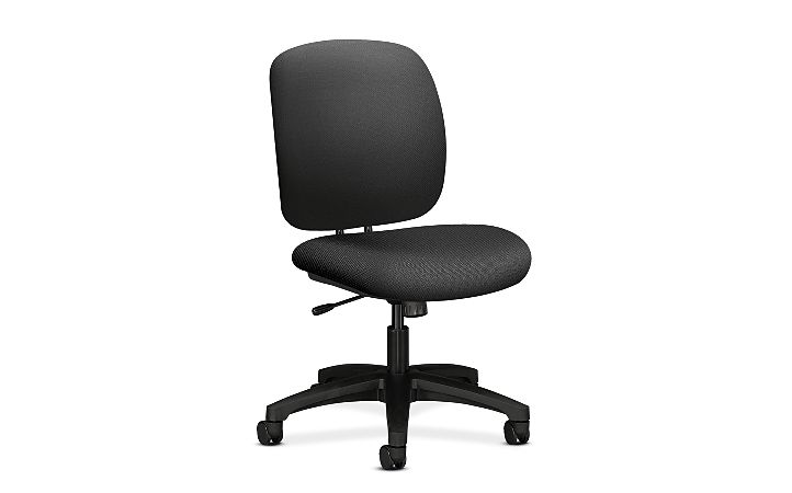 HON ComforTask Task Chair Inertia Onyx Armless Front Side View H5902.H.NR10.T