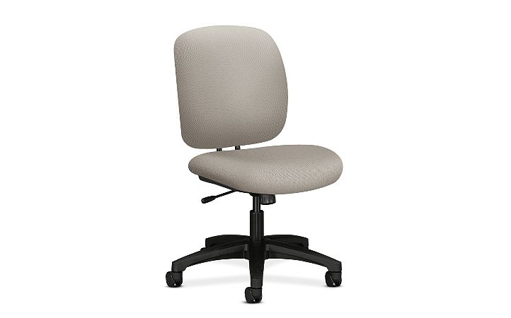 HON ComforTask Task Chair Intertia Shawdow Armless Front Side View H5902.H.NR20.T