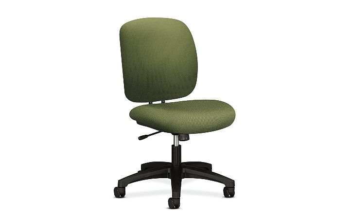 HON ComforTask Task Chair Inertia Clover Armless Front Side View H5902.H.NR74.T