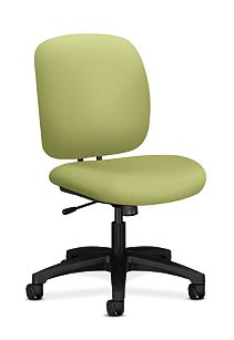 HON ComforTask Task Chair Inertia Lime Armless Front Side View H5902.H.NR82.T