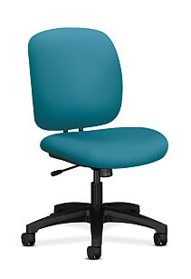 HON ComforTask Task Chair Inertia Calypso Armless Front Side View H5902.H.NR98.T