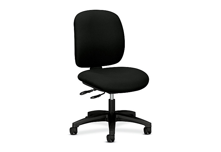 HON ComforTask Task Chair Confetti Black Armless Front Side View H5903.H.AB10.T