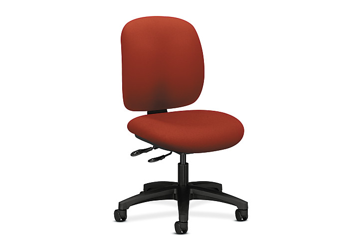 HON ComforTask Task Chair Centurion Poppy Armless Front Side View H5903.H.CU42.T