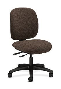HON ComforTask Task Chair Gio Mocha Armless Front Side View H5903.H.GO47.T