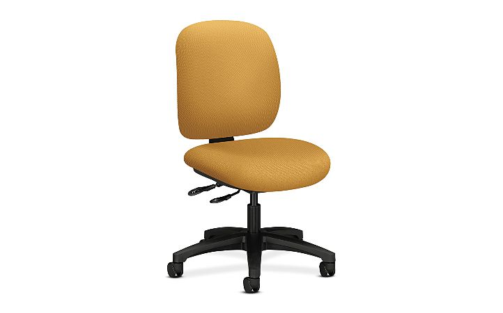 HON ComforTask Task Chair Inertia Mustard Armless Front Side View H5903.H.NR26.T