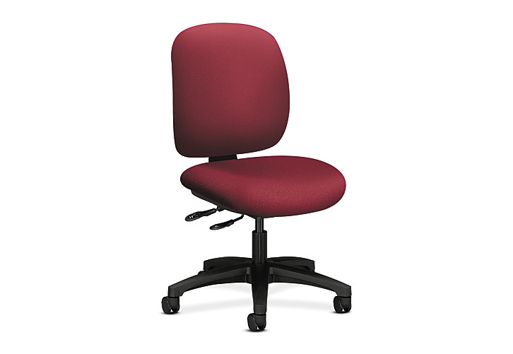 HON ComforTask Task Chair Inertia Mulberry Armless Front Side View H5903.H.NR60.T
