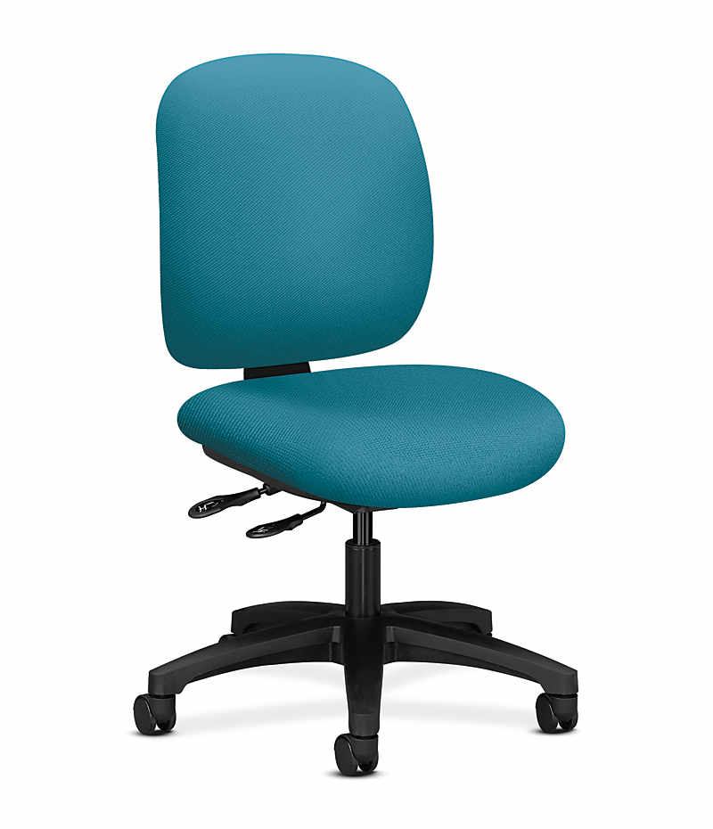 HON ComforTask Task Chair Inertia Calypso Armless Front Side View H5903.H.NR98.T