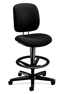 HON ComforTask Task Stool Confetti Black Armless Front Side View H5905.H.AB10.T