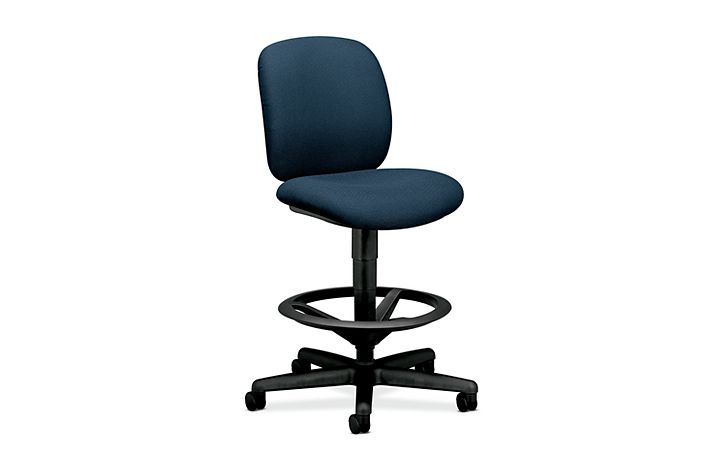 HON ComforTask Task Stool Confetti Blue Armless Front Side View H5905.H.AB90.T