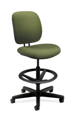 HON ComforTask Task Stool Inertia Clover Armless Front Side View H5905.H.NR74.T