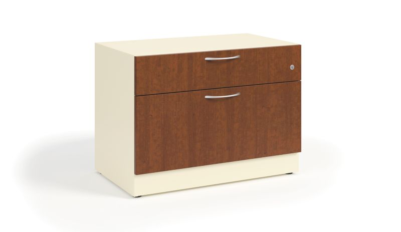 HON Contain Credenza, Box/File White Front Side View HSCBX223018BFMA