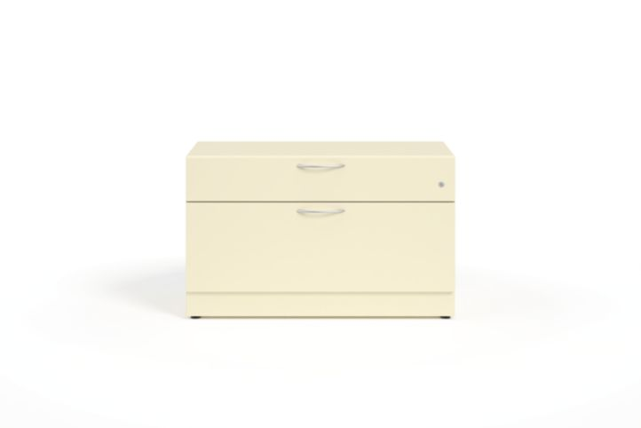 HON Contain Credenza with 1 Box / 1 Lateral Drawer Putty Front View HSCBX223618BFMA.T3.L