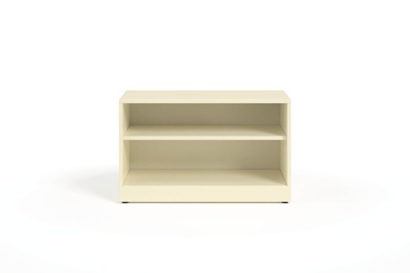 HON Contain Credenza, Open White Front View HSCBX223618O.T3