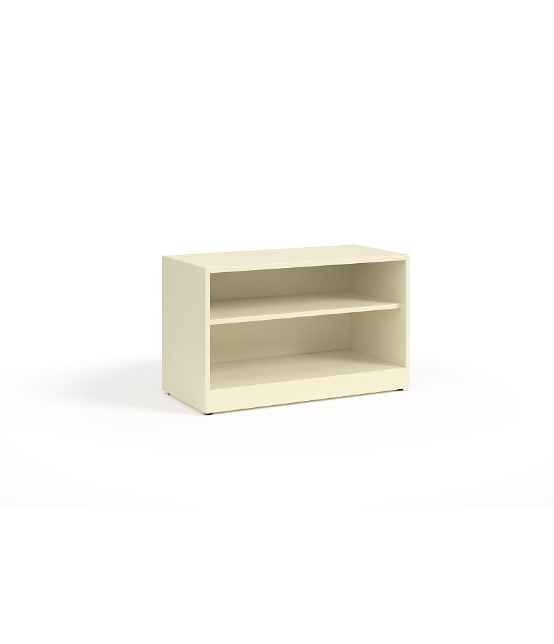 HON Contain Credenza, Open White Front Side View HSCBX223618O.T3