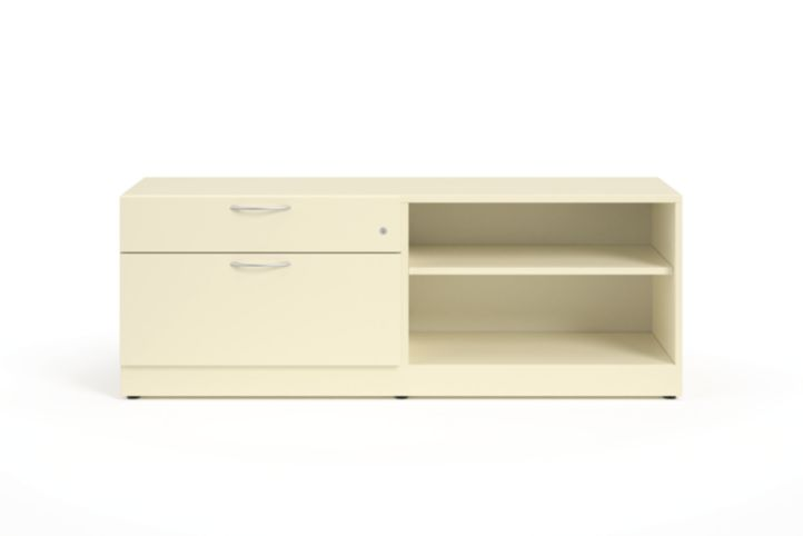 """HON Contain 60""""W Right-hand Combo Credenza White Front View HSCBX226018RBFOMA.T3.L"""