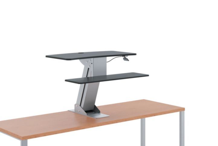 HON Directional Desktop Sit-To-Stand Device Raised Front Side View HS1100