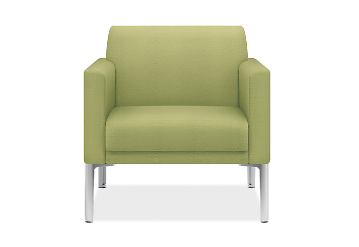 HON Endorse Collection Single Seat Lounge Inertia Lime Color Front View HL1SL..RL.NR82.P6N