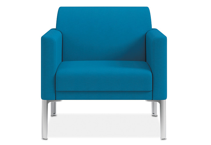 HON Endorse Collection Single Seat Lounge Appoint Seating Turquoise Color Front View HL1SL.RL.PNS006.P6N