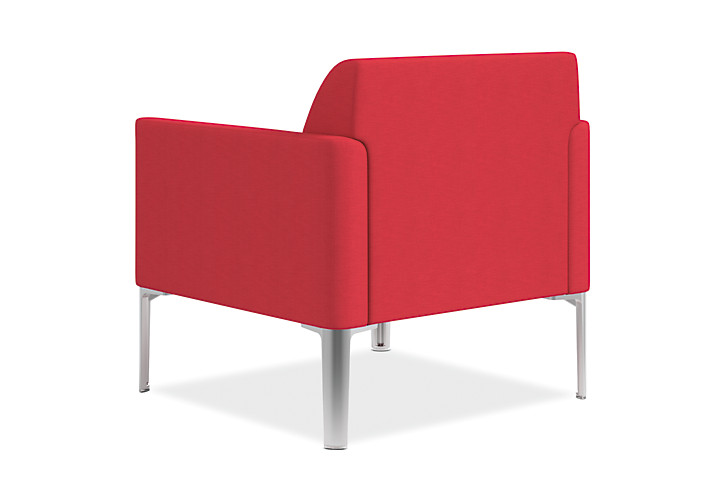 HON Endorse Collection Single Seat Lounge Appoint Seating Cherry Color Back Side View HL1SL.RL.PNS010.P6N