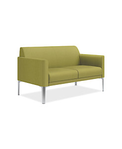 HON Endorse Collection Two-Seat Lounge Optic Sprout Color Front Side View HL2SL.RL.OP74.P6N