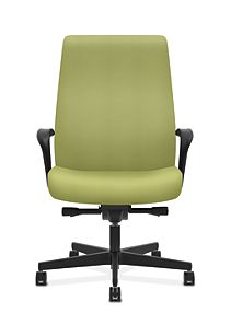 HON Endorse Collection Executive High-back Big and Tall Chair Inertia Lime Fixed Arms Front View HLEUBT.Y2.F.A.NR82.SB
