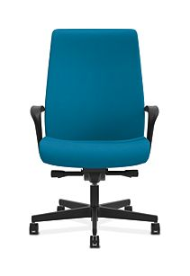 HON Endorse Collection Executive High-back Big and Tall Chair Appoint Seating Turquoise Color Fixed Arms Front View HLEUBT.Y2.F.H.PNS006.SB