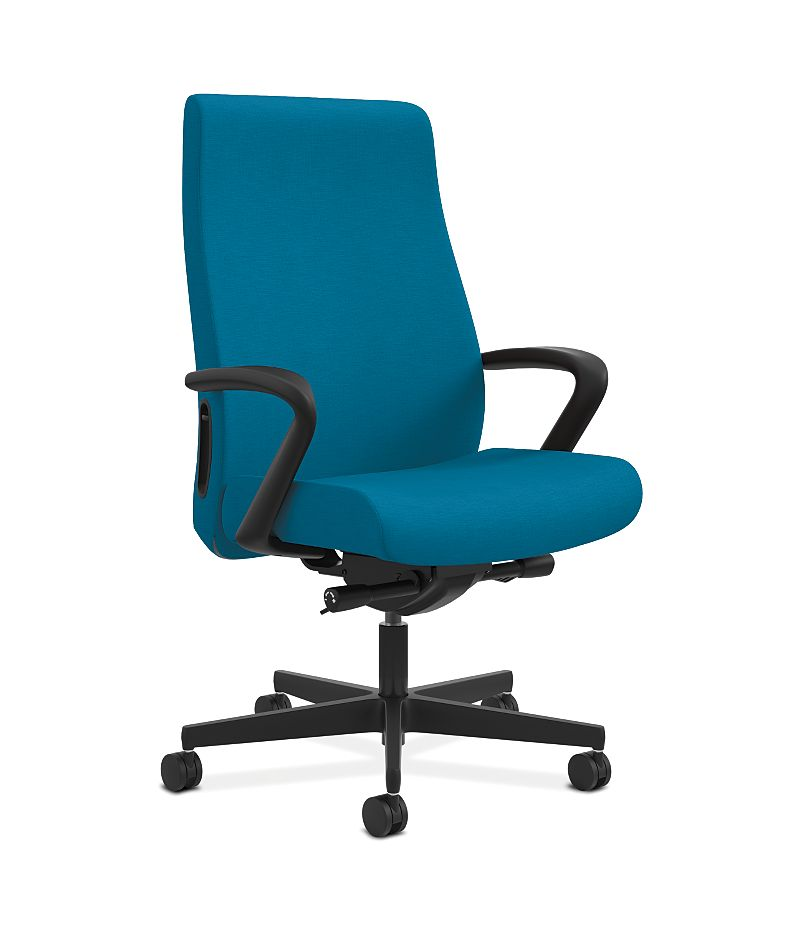 HON Endorse Collection Executive High-back Big and Tall Chair Appoint Seating turquoise Adjustable Arms Front Side View HLEUBT.Y2.F.H.PNS006.SB