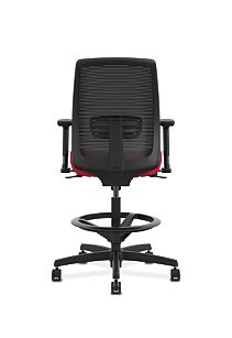 HON Endorse Collection Mesh Back Task Stool Appoint Seating Cherry Adjustable Arms Back View HLTSM.Y1.V.H.PNS010.SB